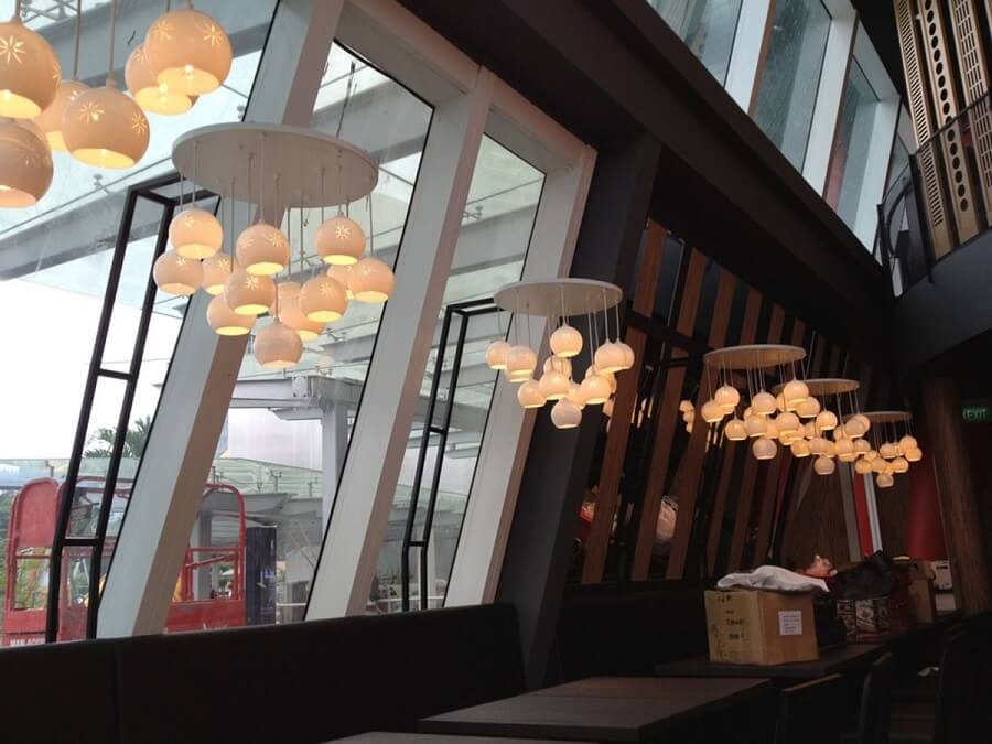 Goodlux custom lighting project -Watami Restaurant in Singapore 2