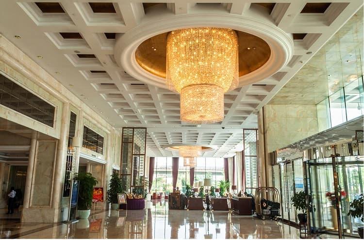 custom chandelier for hotel lobby