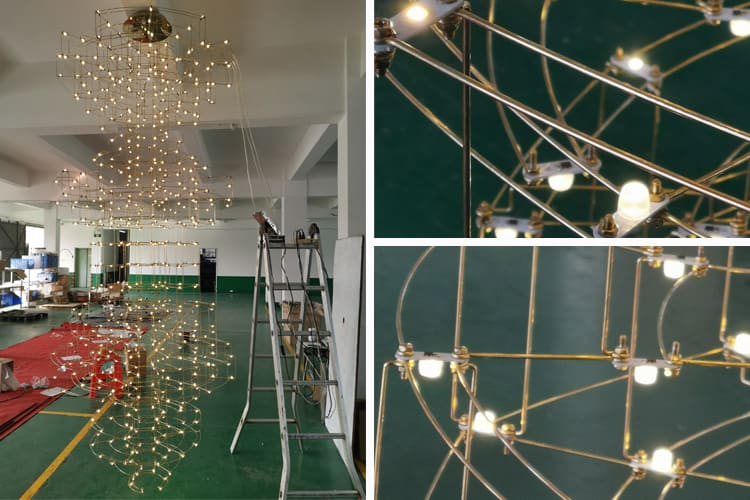 custom chandelier inspection