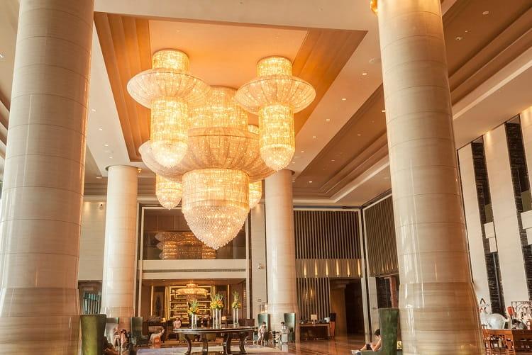 hotel lobby custom chandelier