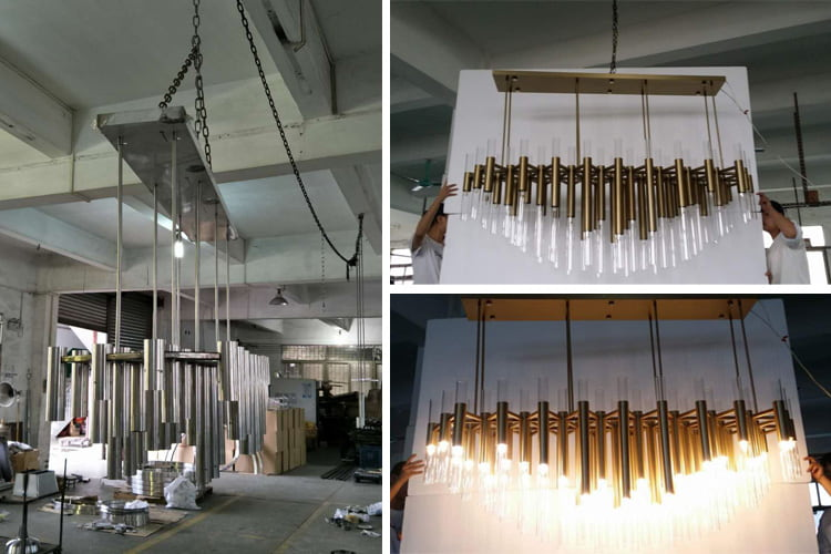 manufacturing a good quality custom chandelier
