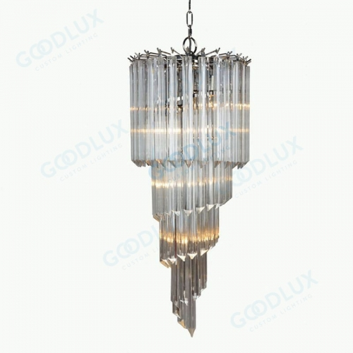 Clear glass custom chandelier