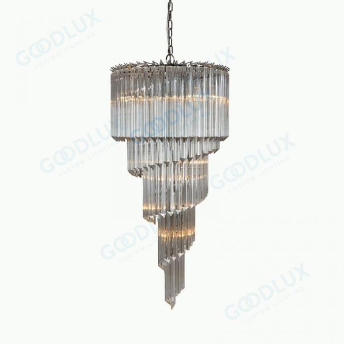 Clear glass custom chandelier