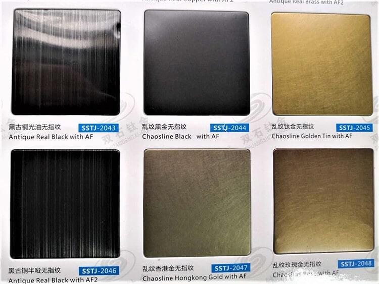 custom lighting ultimate guide - material sample