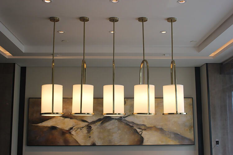 custom pendant light for reception