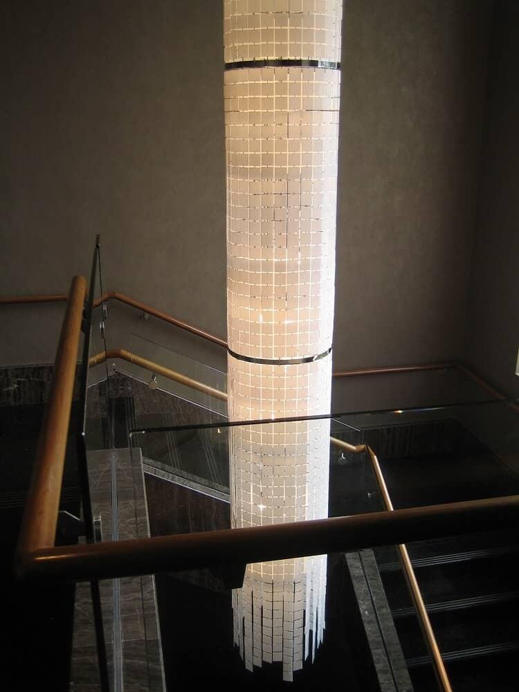 large custom pendant light for hotel stair