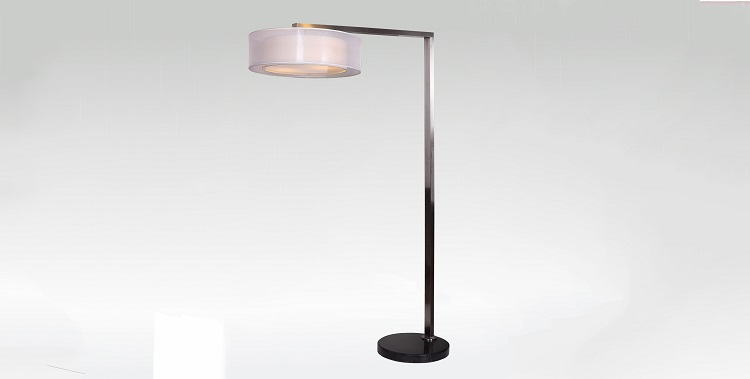 Arc and Cantilever floor lamp for hotel project