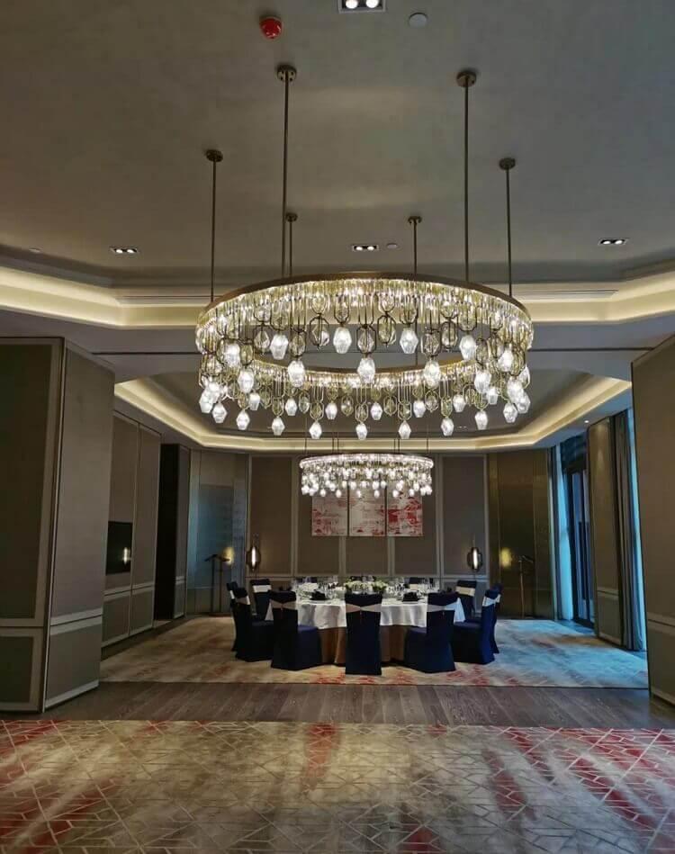 Custom pendant light for hotel restaurant private room 1