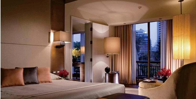 Hotel floor lamp as hotel room lighting 1