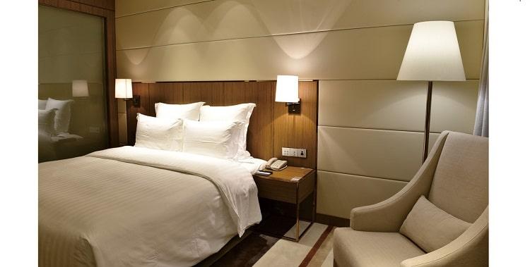 Hotel floor lamp as hotel room lighting 3