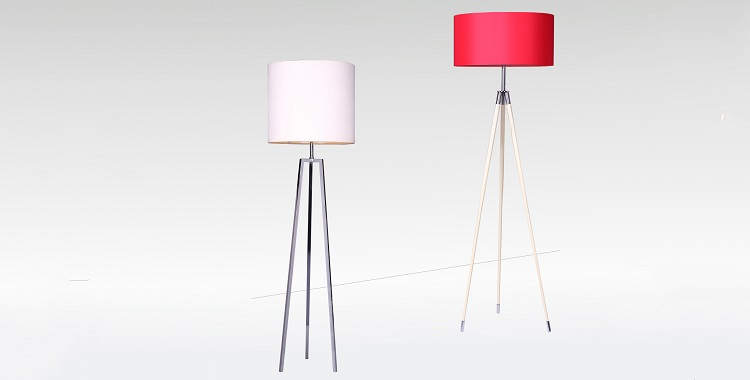 Tripod floor lamp for hotel project