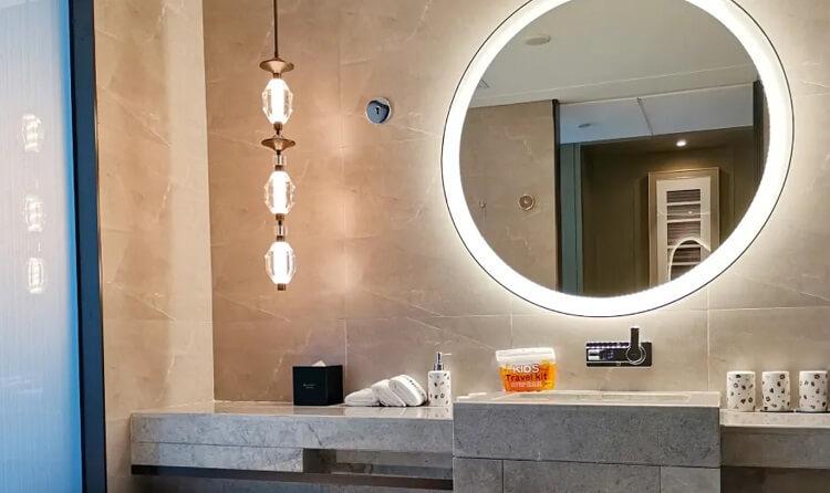 custom pendant light and mirror light for hotel bathroom2