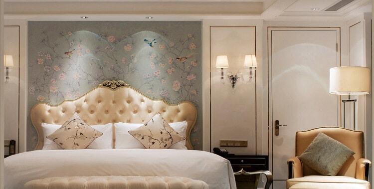 custom wall light as hotel room bedside lighting