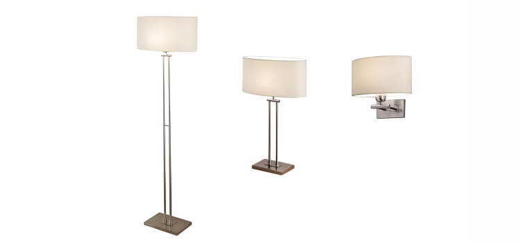 custom wall light matching with table lamp and floor lamp