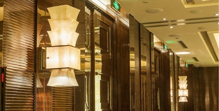 glass custom wall light for hotel public area