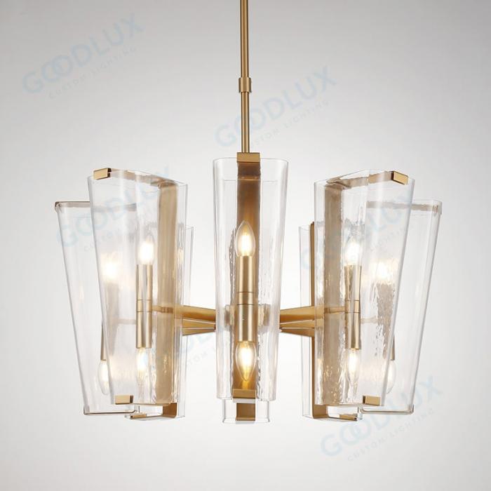 16-light modern candle chandelier in brass finish GP3602G-16