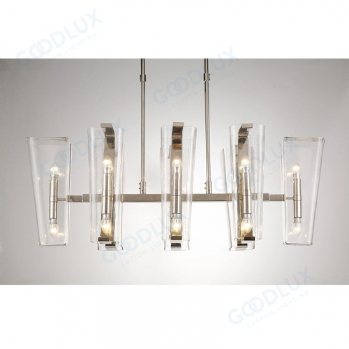16-light modern candle chandelier in nickel finish GP3602-16NI