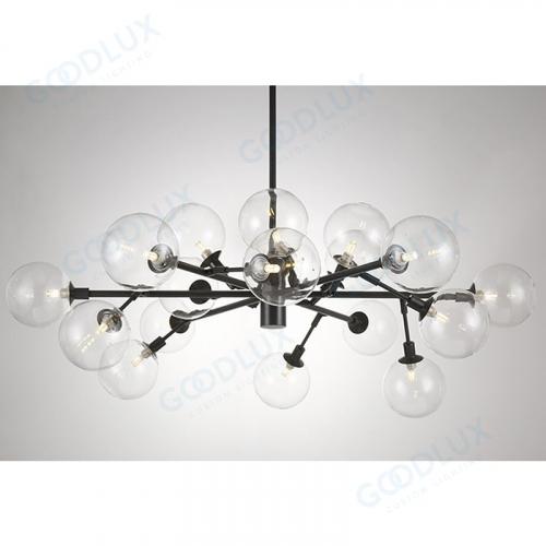 18 light big modern chandelier with antique black finishing GP3587-18ABG