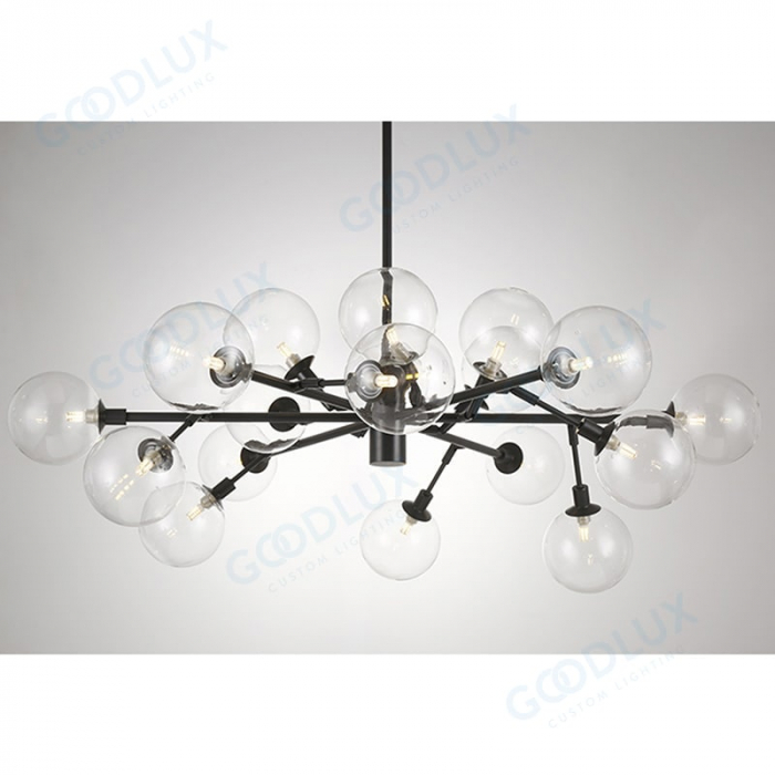 18 light big modern chandelier with antique black finishing GP3587-18ABG