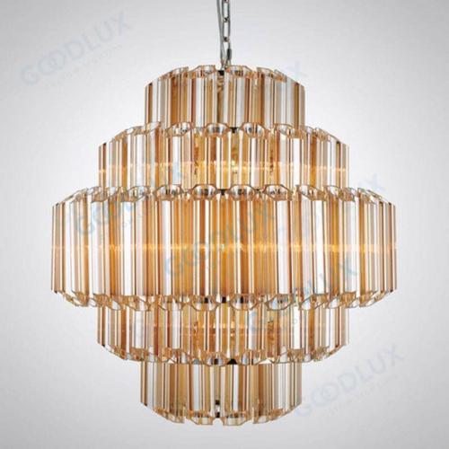 26inch Modern nickel and glass chandelier GP3451-9AM