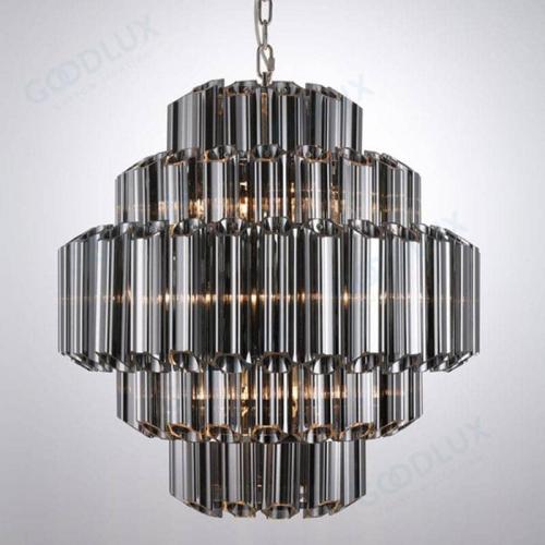 26inch Modern nickel and smoky glass chandelier GP3451-9SM