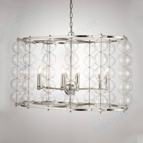 8-light Unique design chandelier with glass bulb shade GP3590-8
