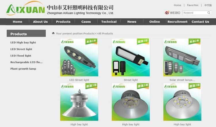 90. Zhongshan AiXuan Lighting Technology Co., Ltd