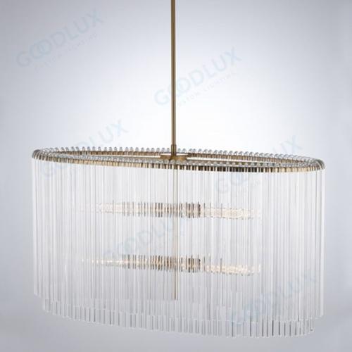 Modern Glass Oval Chandelier GP3449L-4