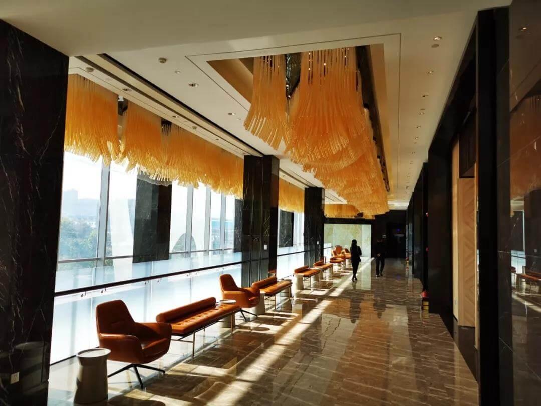 Goodlux custom pendant light for banquet hall corridor
