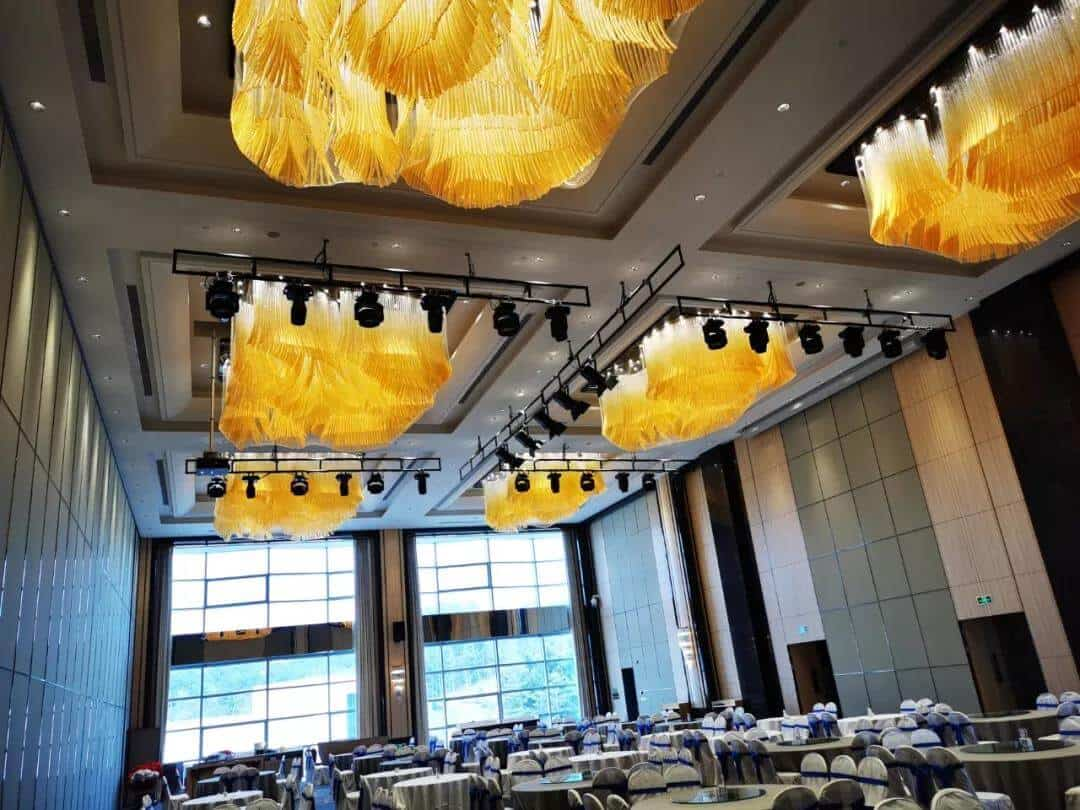Goodlux custom pendant light for the banquet hall