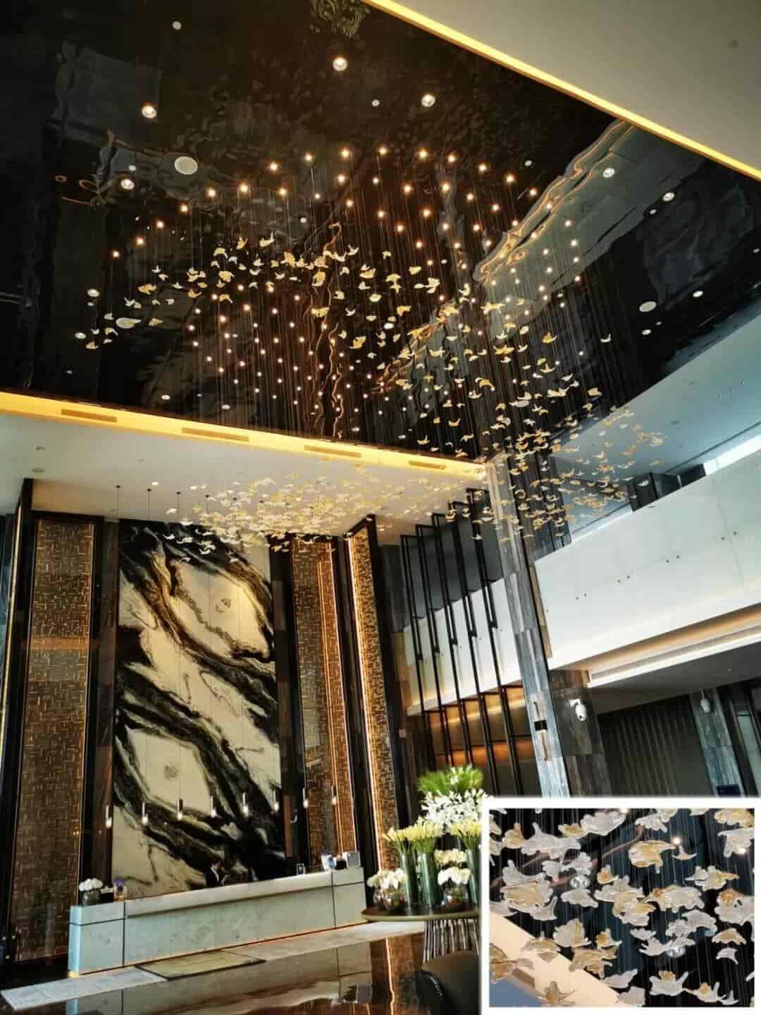 Goodlux custom pendant light for the lobby