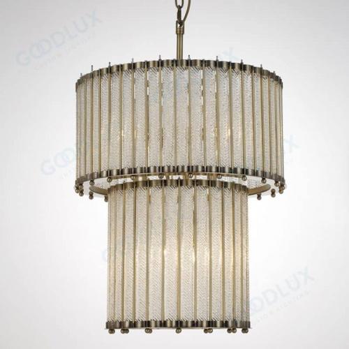 Luxury elegant chandelier with detailed textured glass GP3487-6