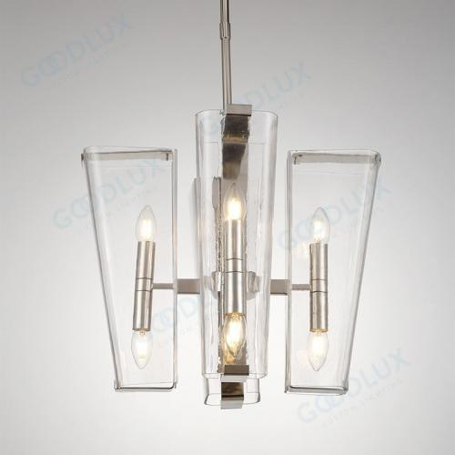 Modern candle chandelier in nickel finish GP3602-8NI