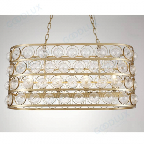 oval chandelier in gold finish GP3595-4