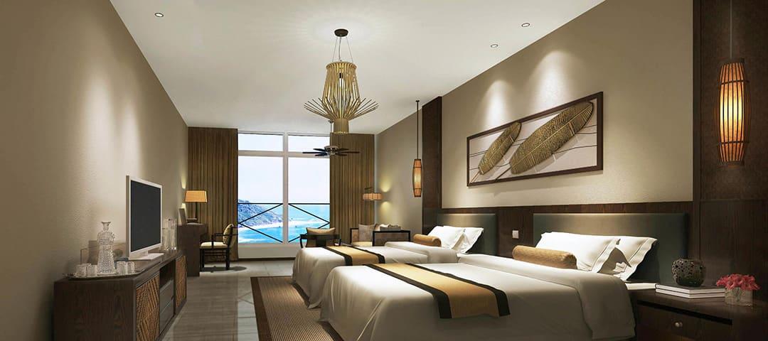 Custom Light for modern hotel room