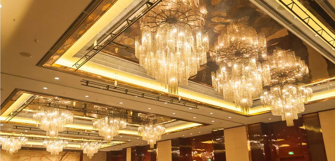 Hotel banquet hall lighting