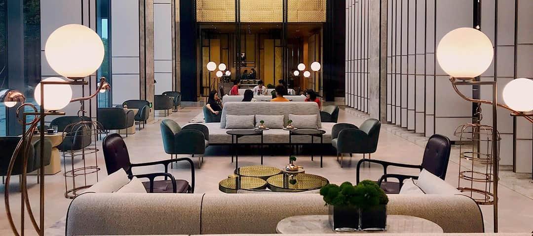 Hotel lighting for lobby resting area