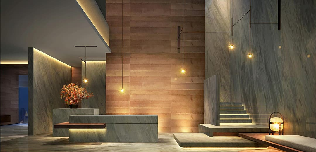 One of hotel lighting design trend to be as simple as possible