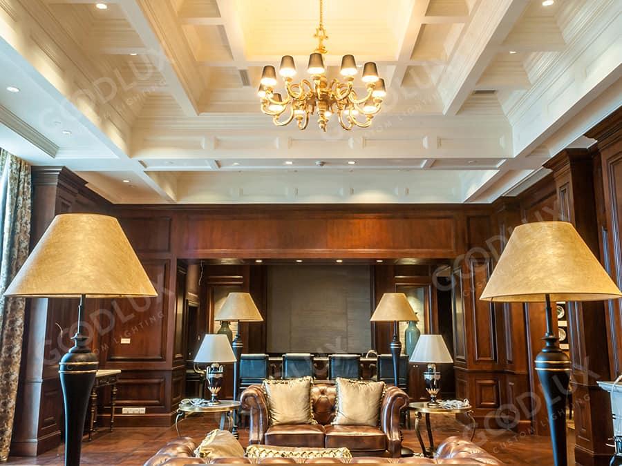 custom lighting design for Castle Hotel Dalian