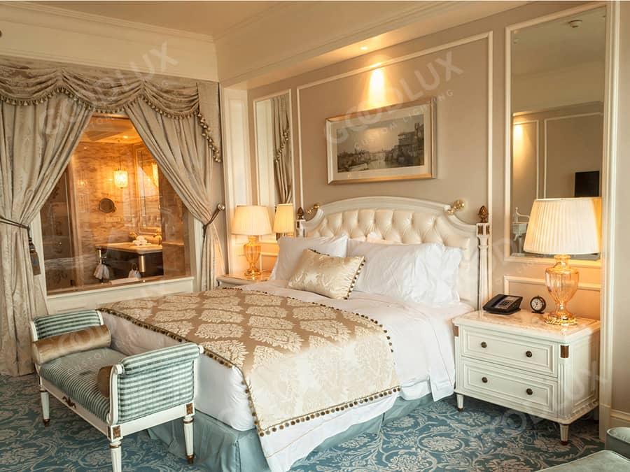 hotel room lighting for Castle Hotel Dalian