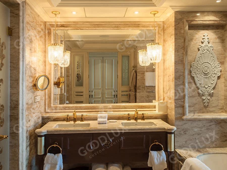 bahroom decorative lighting for Castle Hotel Dalian