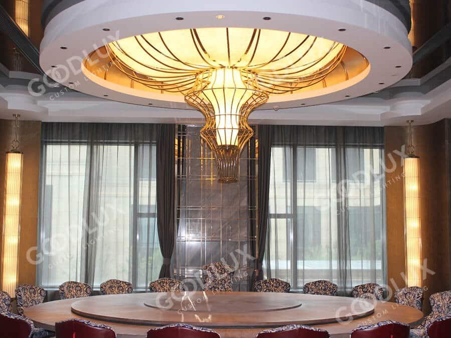 custom pendant light for Crowne Plaza Shanghai
