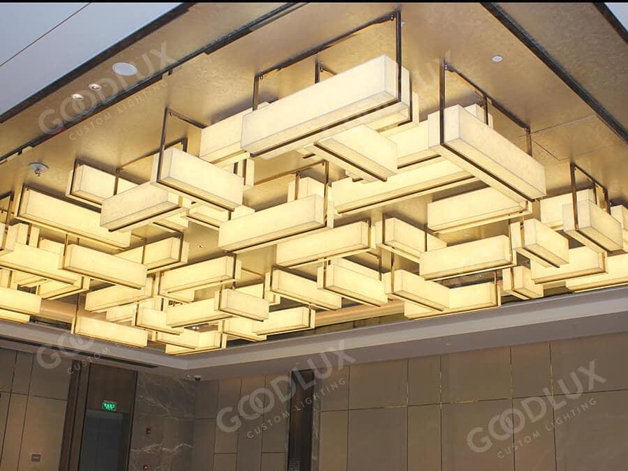 custom lighting for Crowne Plaza Shanghai