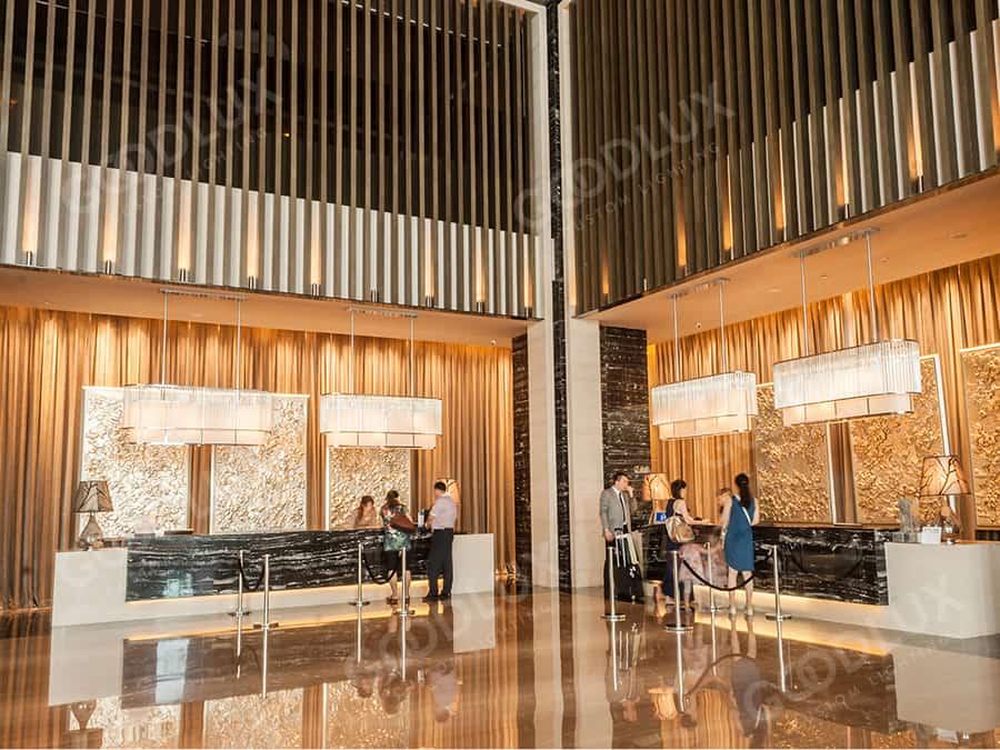 reception chandelier for Hilton Hotel Dalian