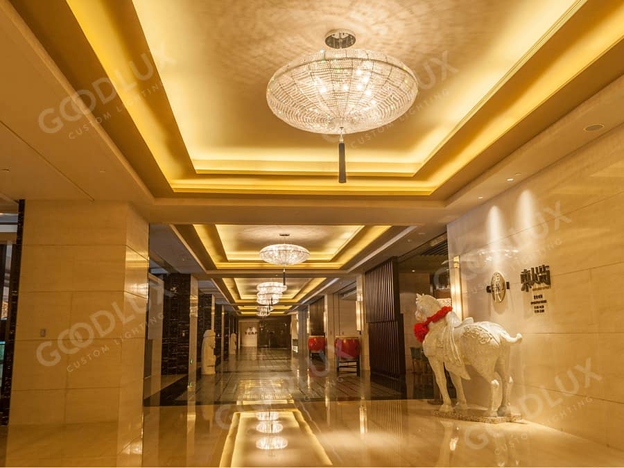 corridor chandelier for Hilton Hotel Dalian