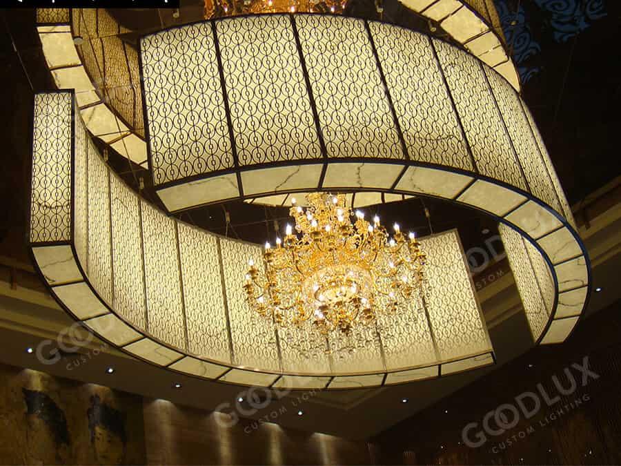 custom large chandelier for lobby of Huzhou Jinshan Hotel
