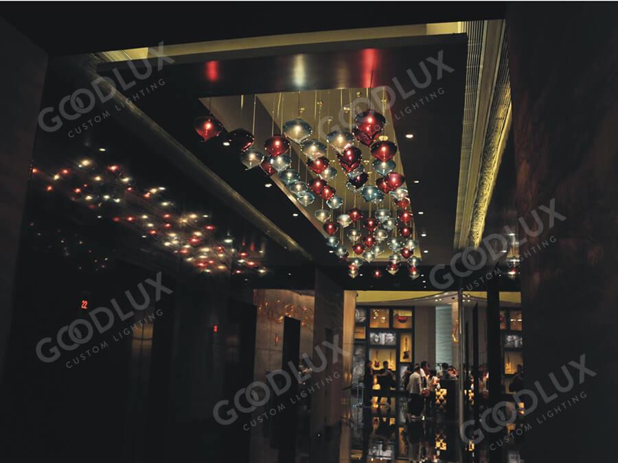 custom pendant light for Macau Crowne Plaza