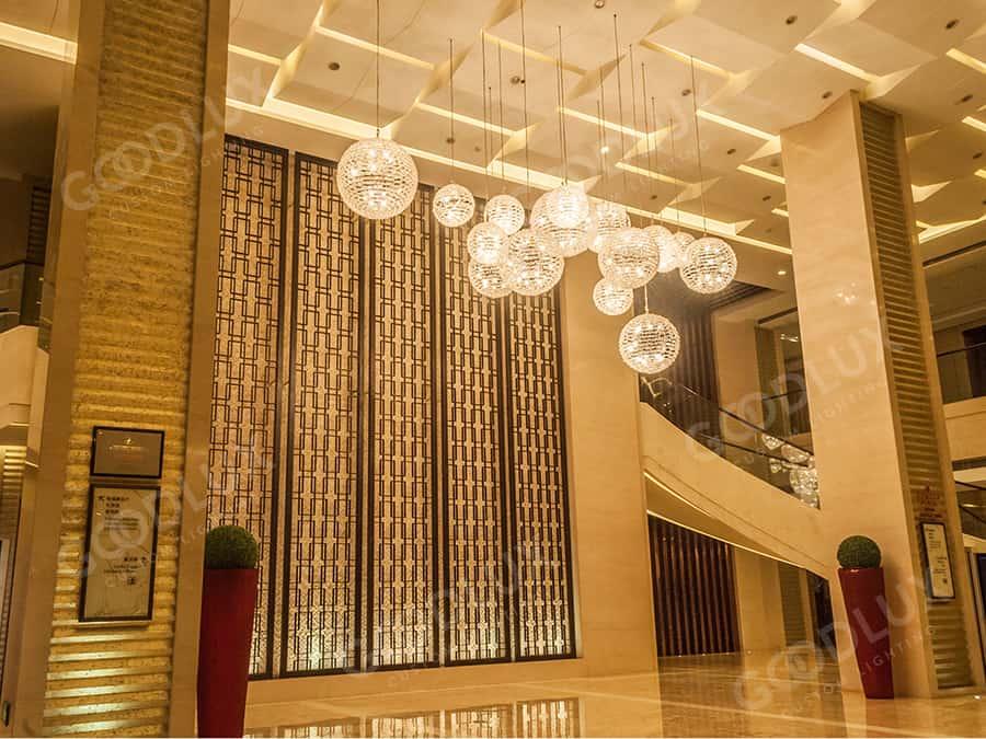 Goodlux custom lighting for Ramada Plaza Jinjiang Hotel