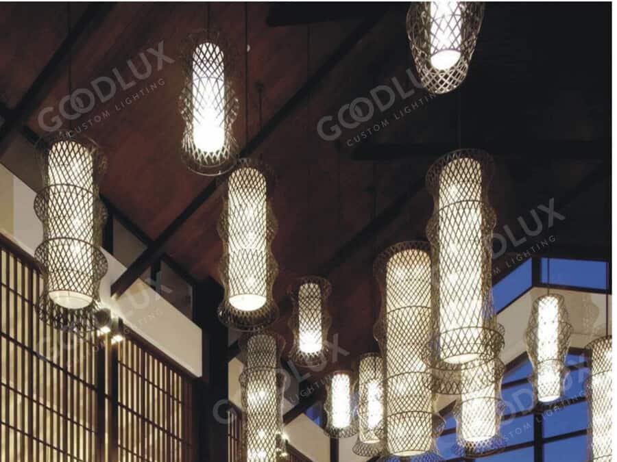 custom pendant light for Sanya Howard Johnson Resort