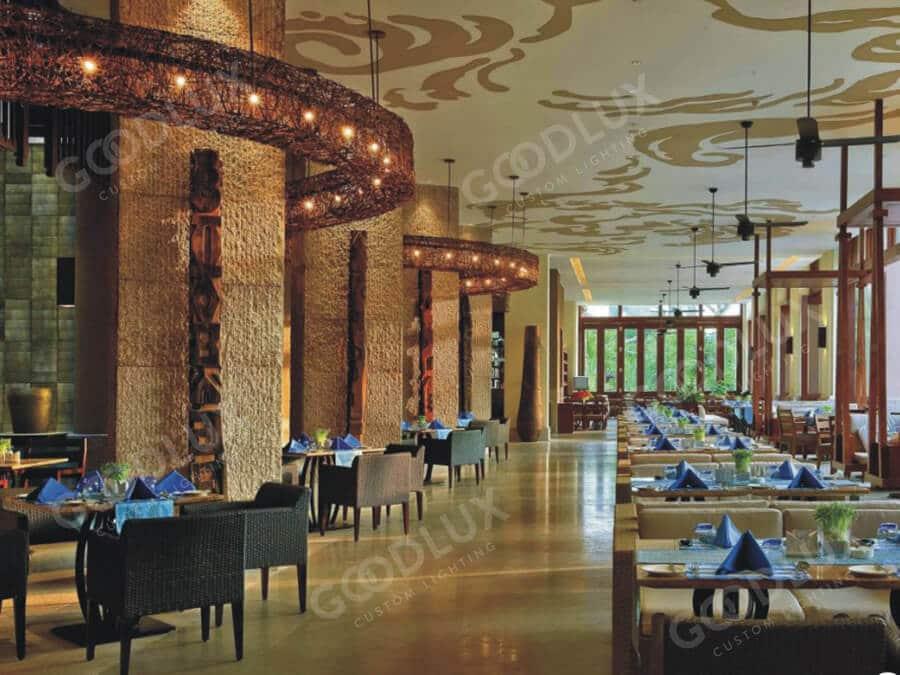 custom restaurant lighting for Sanya Howard Johnson Resort